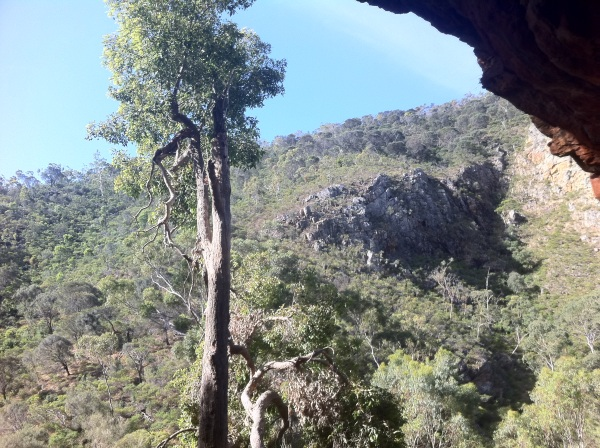 Recording the Web Marketing Adelaide Podcast at Morialta Falls